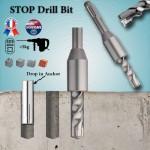 Stop drill bit